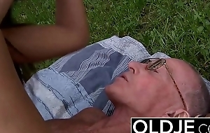 Old young Hardcore ANAL for BEAUTIFUL TEEN with cumshot swallow babe