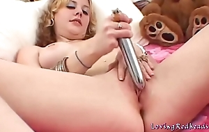 Dirty Cerise loves her sex toys
