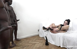 Tattooed Nympho Inga Devil gets fucked like a whore by 4 BBC'_s!
