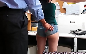 Real shoplifter cummed