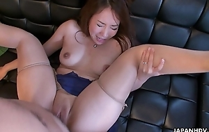 Cheating wife Akari getting her wet pussy placed in run in