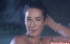 Glamour asian pounded thither front of voyeurs