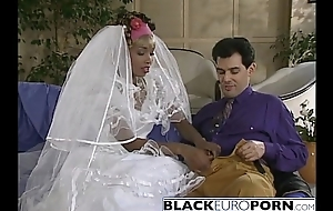 Ebony bride gets pounded by best man vapid dong
