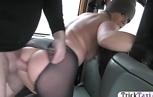 Busty shend woman railed by nasty driver