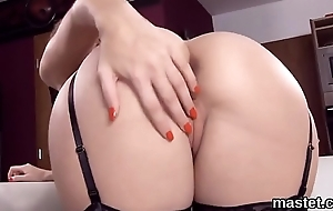 Nasty czech kitten spreads her mouth-watering slit to the unusual