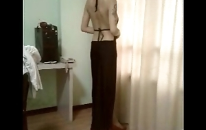 A Chinese bitch showing her body