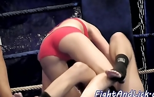 Scissoring ginger beer babes enjoy wrestling