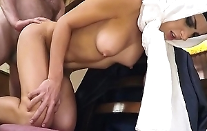 Arab Teen On A Chair Getting Fucked Doggystyle Give Dining Room