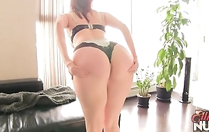 big irritant redhead with hot curves strips and teases
