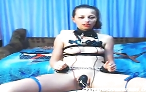 BDSM Amateur Teen cam girl tied up and sucking dick - - Sexyexposedwebcams.com