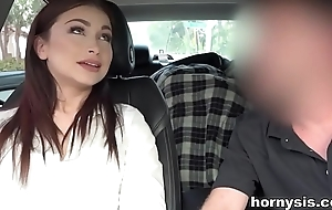 Sister gives Blowjob to Brother in passenger car
