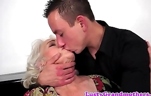 Hairy grandma titfucked in advance cumplaying