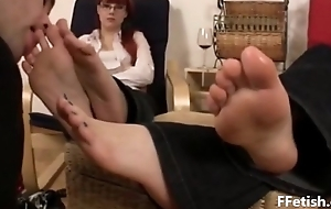 Slave Licking &amp_ Worshiping Sexy Feet - FFetish.Com