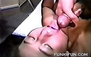 Japanese chick loves to swallow cum