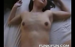 Asian couple having some long passionate dealings