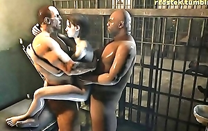 Jill Valentine getting fucked in prison