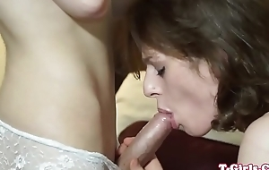 Tgirl assfingering and cocksucking in duo