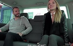 Stupid blonde cheated and fucked yon car with huge cumshot