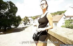 Public Blowjob With EUro Slut Teen Amateur Be beneficial to Cash In The Street 13