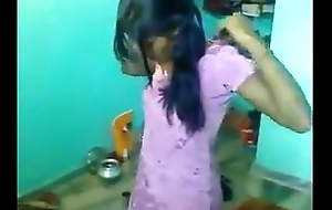 Indian Sister changing her dress infront of me